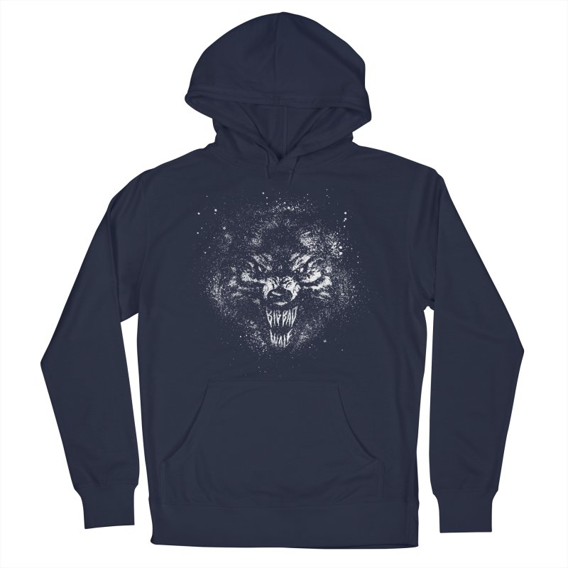 Big Bad Wolf Men's French Terry Pullover Hoody by The Daily Pick