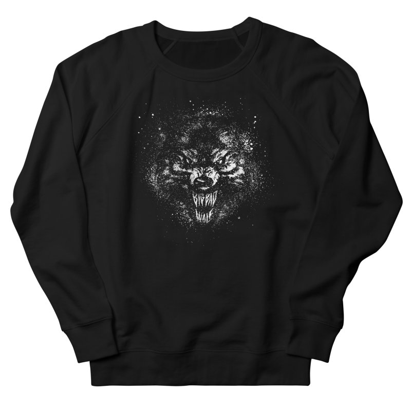 Big Bad Wolf Men's French Terry Sweatshirt by The Daily Pick