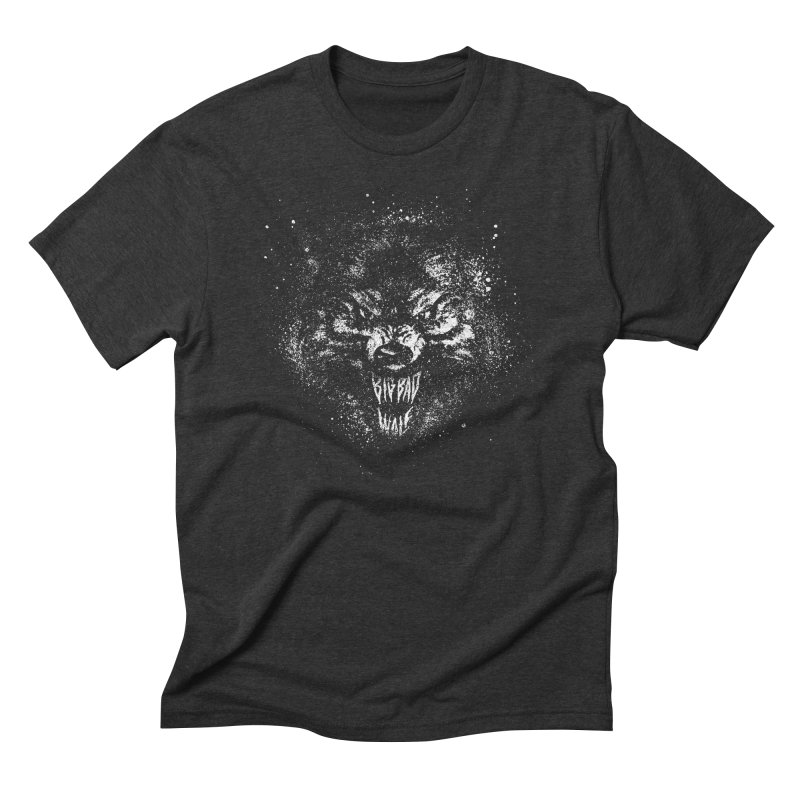 Big Bad Wolf in Men's Triblend T-Shirt Heather Onyx by The Daily Pick