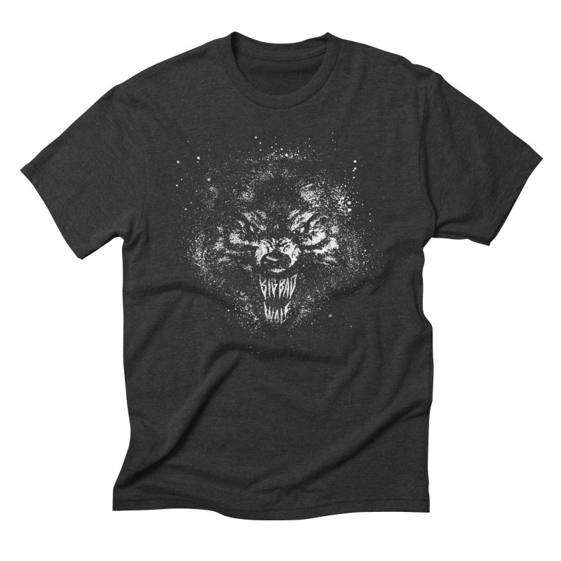 Big Bad Wolf Men's Triblend T-shirt by The Daily Pick