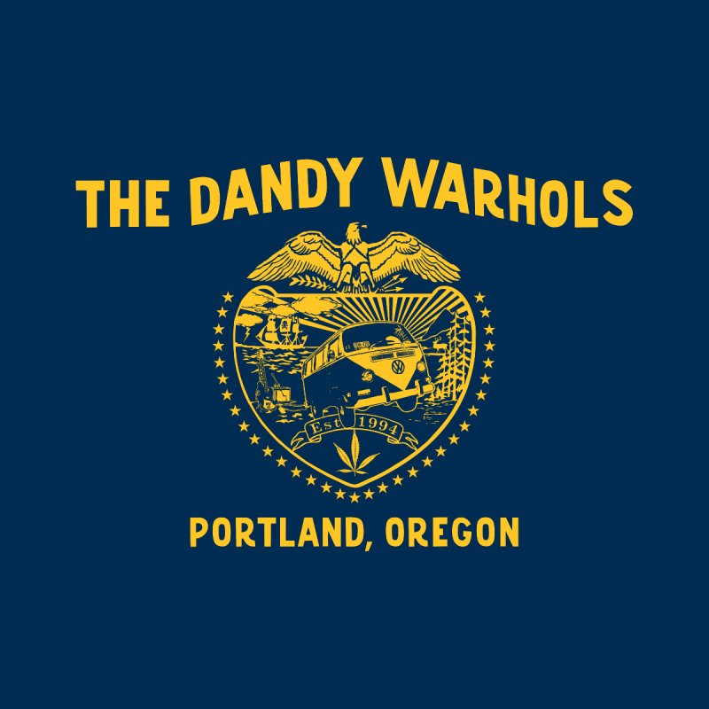 TDW Oregon Flag Gold Men's T-Shirt by The Dandy Warhols