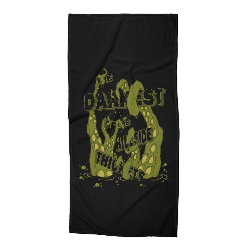 Tentacle Logo Accessories Beach Towel by The Darkest of the Hillside Thickets Merchporium