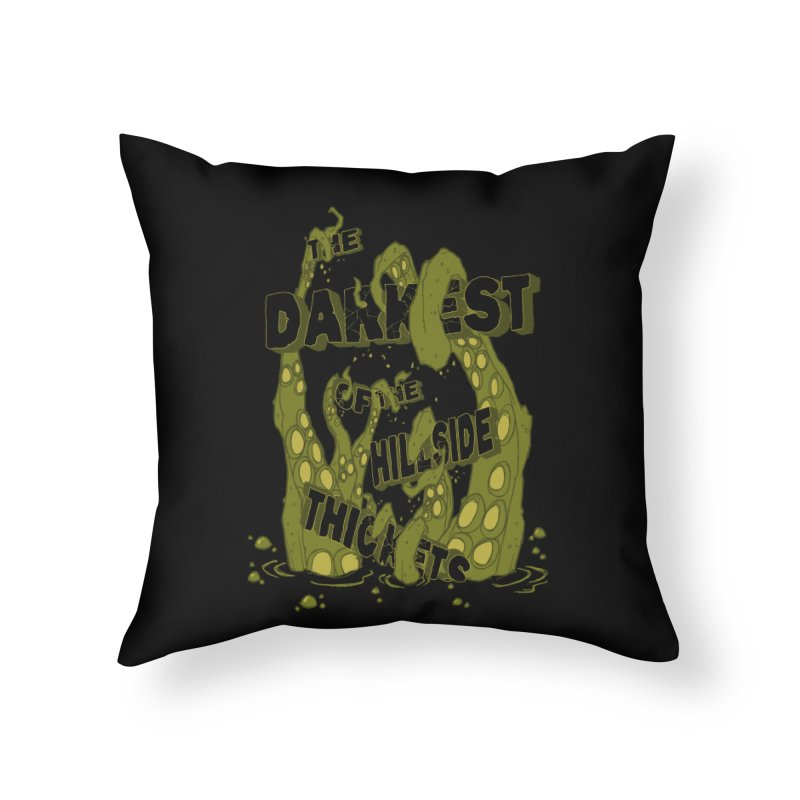 Tentacle Logo Home Throw Pillow by The Darkest of the Hillside Thickets Merchporium
