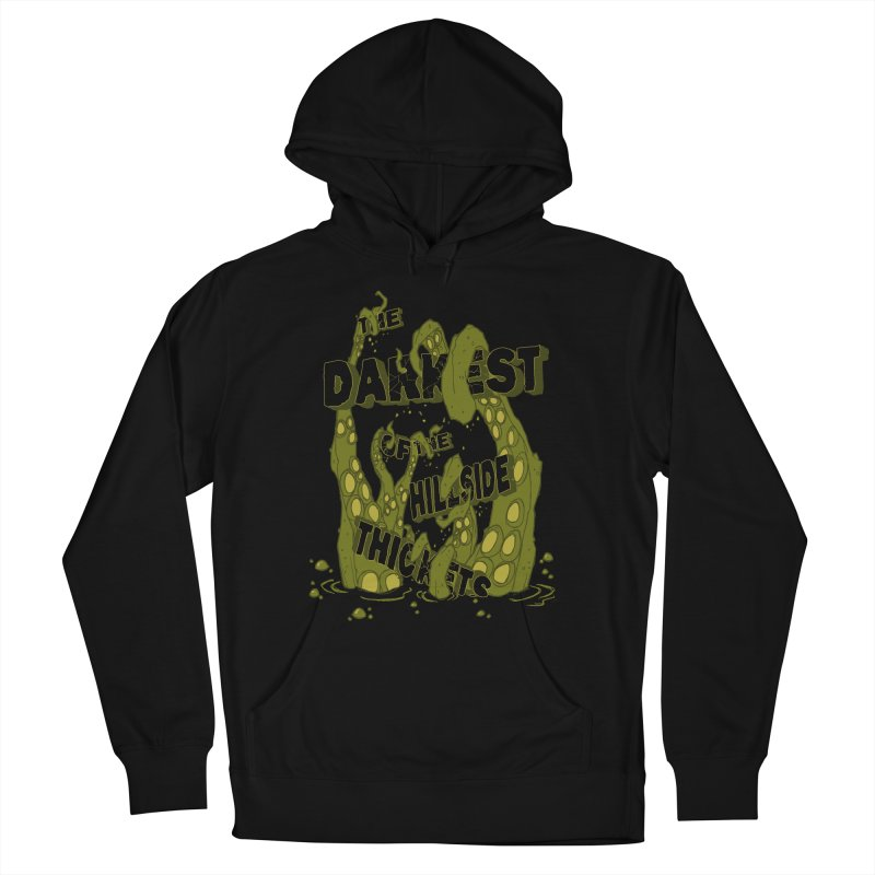 Tentacle Logo Men's French Terry Pullover Hoody by The Darkest of the Hillside Thickets Merchporium