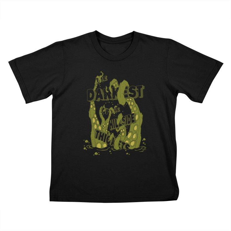 Tentacle Logo Kids T-Shirt by The Darkest of the Hillside Thickets Merchporium