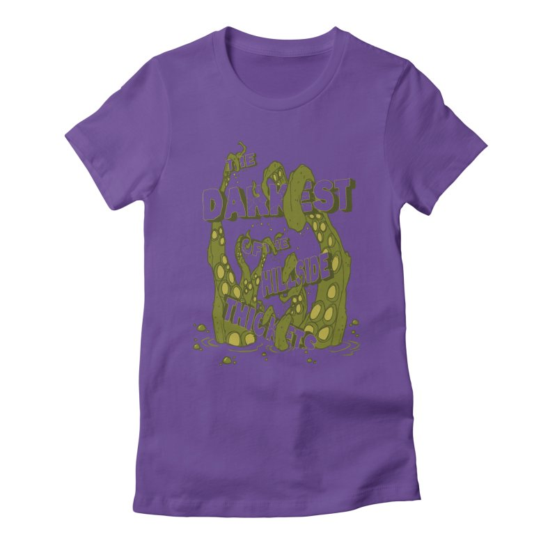 Tentacle Logo Women's Fitted T-Shirt by The Darkest of the Hillside Thickets Merchporium