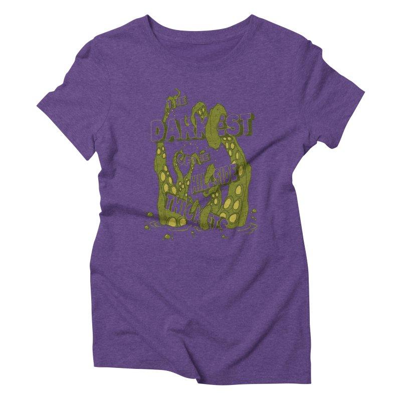 Tentacle Logo Women's Triblend T-Shirt by The Darkest of the Hillside Thickets Merchporium