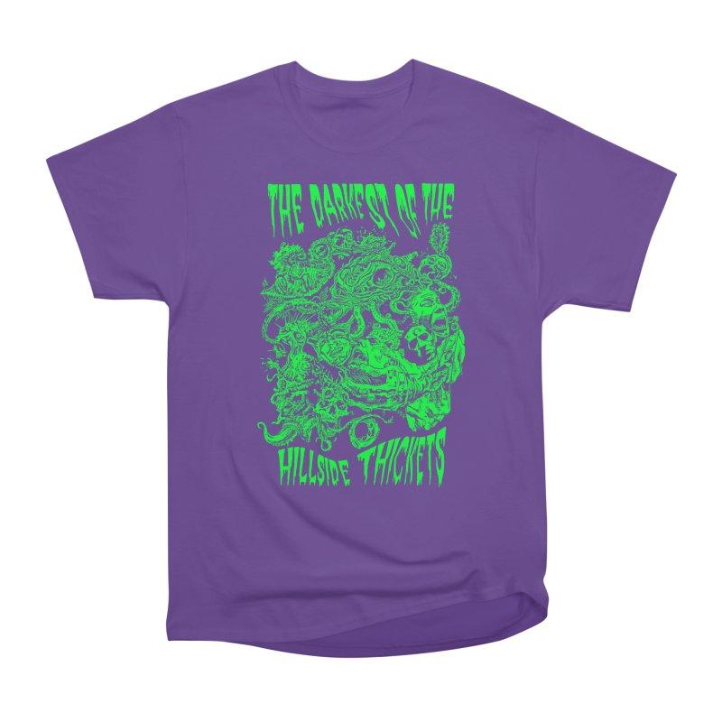Cthulhu Embrace Women's Heavyweight Unisex T-Shirt by The Darkest of the Hillside Thickets Merchporium