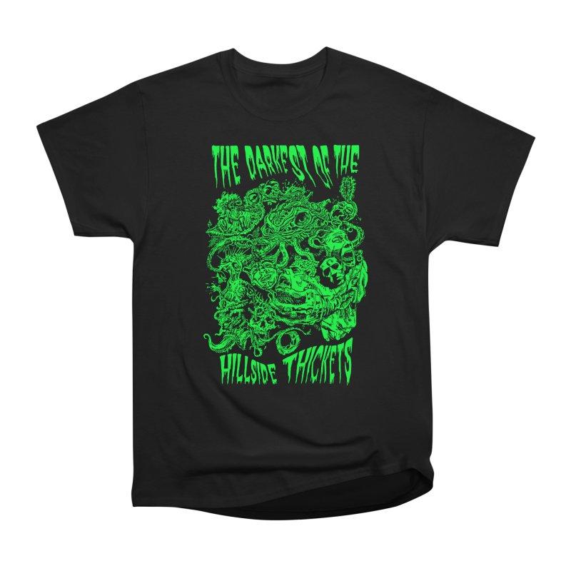 Cthulhu Embrace Men's Heavyweight T-Shirt by The Darkest of the Hillside Thickets Merchporium