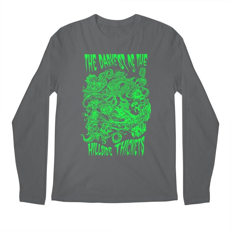 Cthulhu Embrace Men's Regular Longsleeve T-Shirt by The Darkest of the Hillside Thickets Merchporium