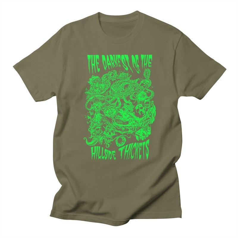 Cthulhu Embrace Men's Regular T-Shirt by The Darkest of the Hillside Thickets Merchporium