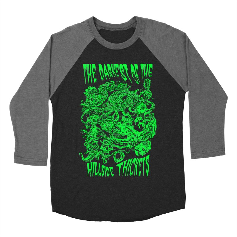 Cthulhu Embrace Men's Baseball Triblend Longsleeve T-Shirt by The Darkest of the Hillside Thickets Merchporium