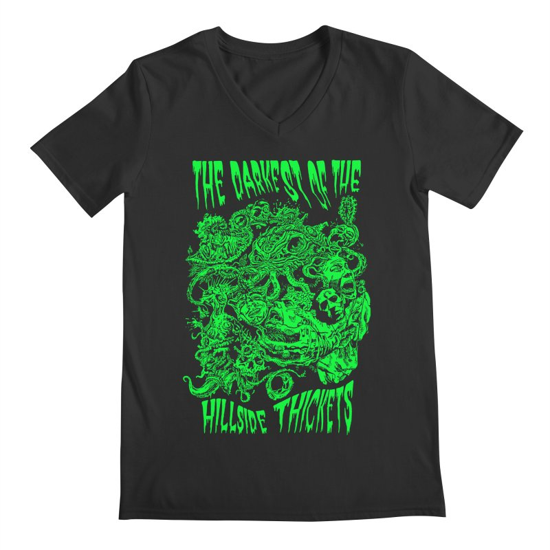 Cthulhu Embrace Men's Regular V-Neck by The Darkest of the Hillside Thickets Merchporium