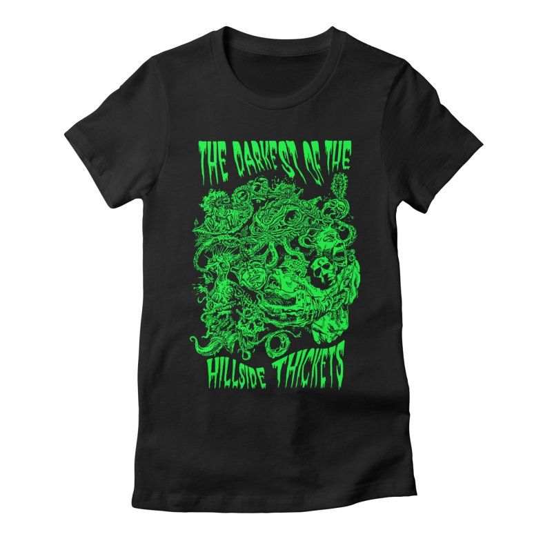Cthulhu Embrace Women's Fitted T-Shirt by The Darkest of the Hillside Thickets Merchporium