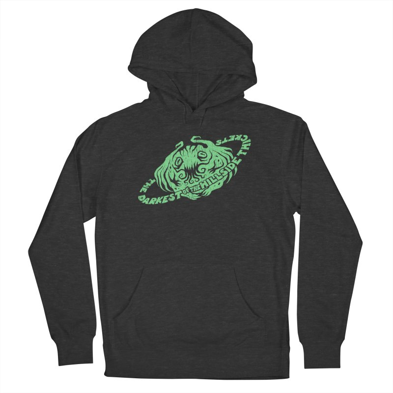 Planet Cthulhu (Distressed) Men's French Terry Pullover Hoody by The Darkest of the Hillside Thickets Merchporium