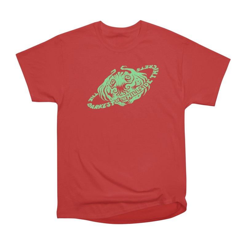 Planet Cthulhu (Distressed) Men's Heavyweight T-Shirt by The Darkest of the Hillside Thickets Merchporium