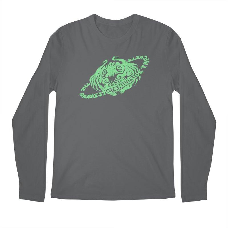 Planet Cthulhu (Distressed) Men's Regular Longsleeve T-Shirt by The Darkest of the Hillside Thickets Merchporium