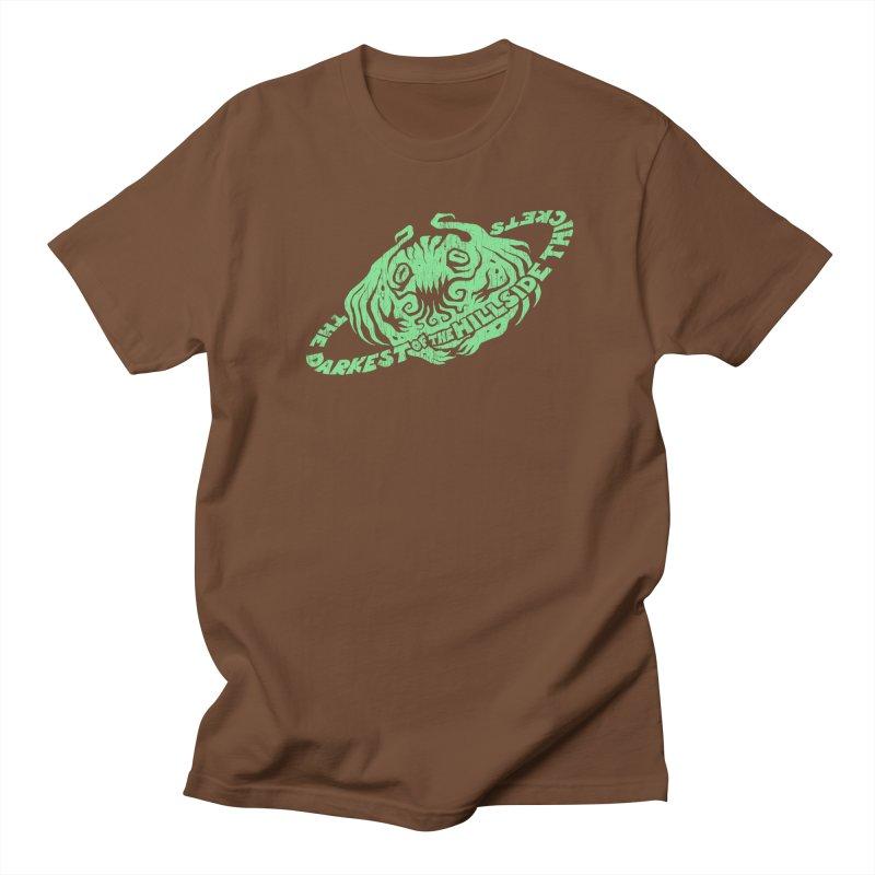 Planet Cthulhu (Distressed) Men's Regular T-Shirt by The Darkest of the Hillside Thickets Merchporium