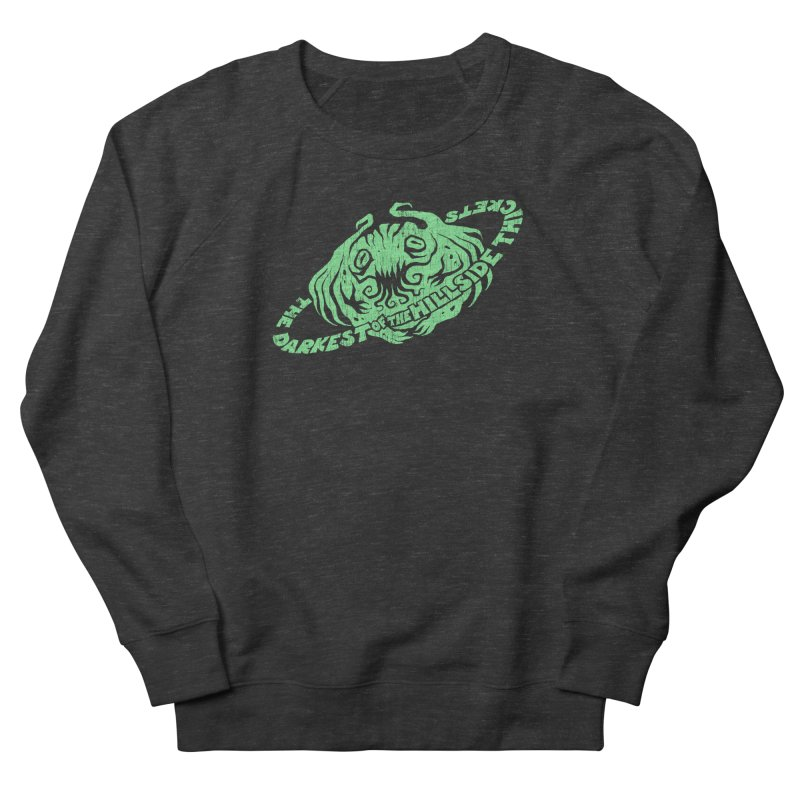 Planet Cthulhu (Distressed) Men's French Terry Sweatshirt by The Darkest of the Hillside Thickets Merchporium