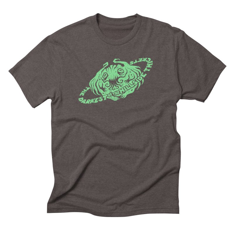 Planet Cthulhu (Distressed) Men's Triblend T-Shirt by The Darkest of the Hillside Thickets Merchporium