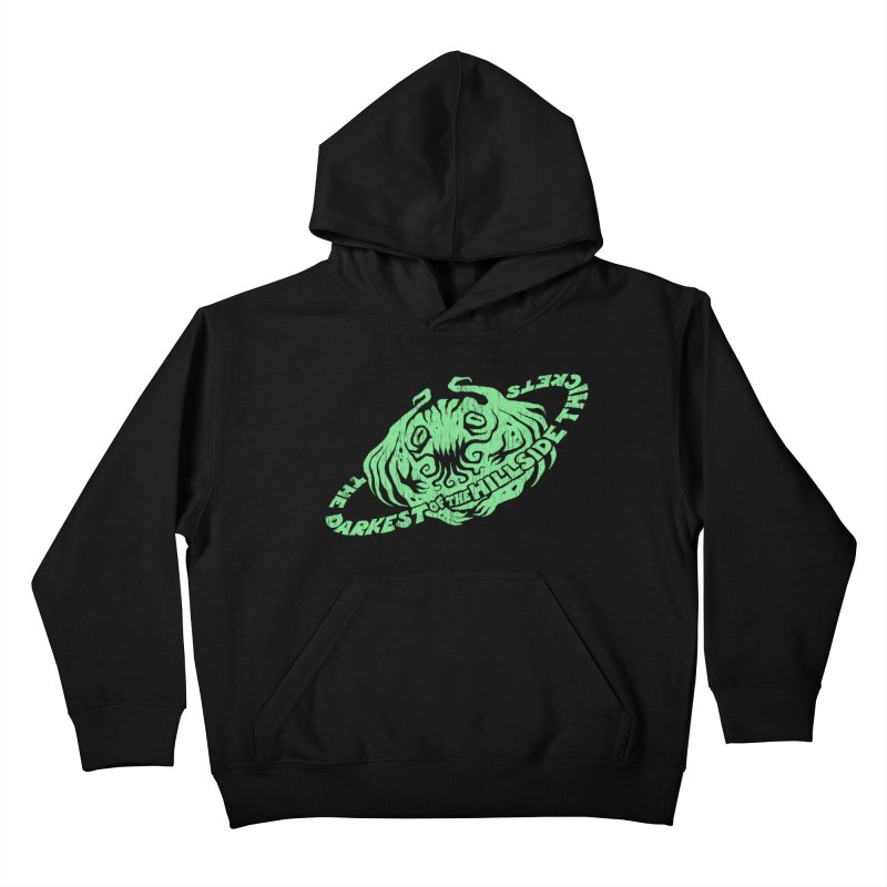 Planet Cthulhu (Distressed) Kids Pullover Hoody by The Darkest of the Hillside Thickets Merchporium