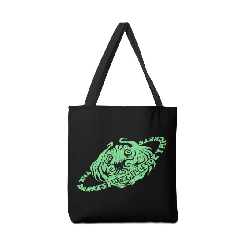 Planet Cthulhu (Distressed) Accessories Tote Bag Bag by The Darkest of the Hillside Thickets Merchporium