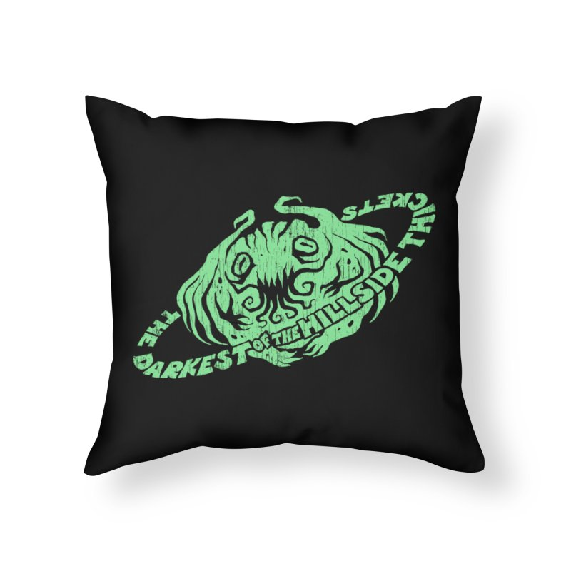 Planet Cthulhu (Distressed) Home Throw Pillow by The Darkest of the Hillside Thickets Merchporium
