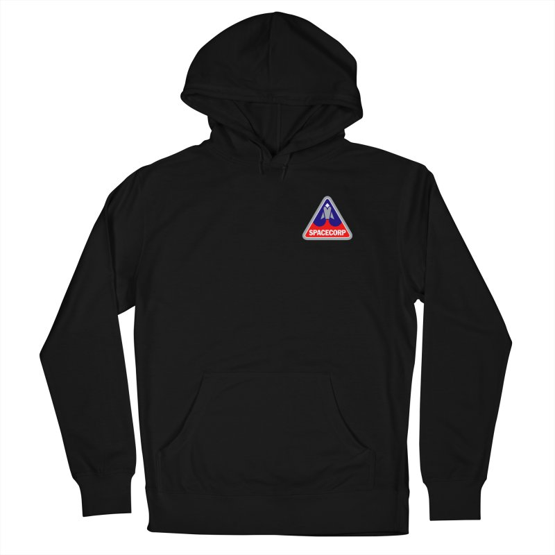 SpaceCorp Logo Women's French Terry Pullover Hoody by The Darkest of the Hillside Thickets Merchporium