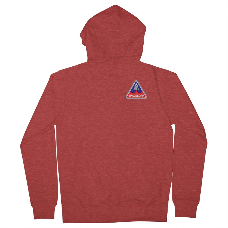 SpaceCorp Logo Men's French Terry Zip-Up Hoody by The Darkest of the Hillside Thickets Merchporium