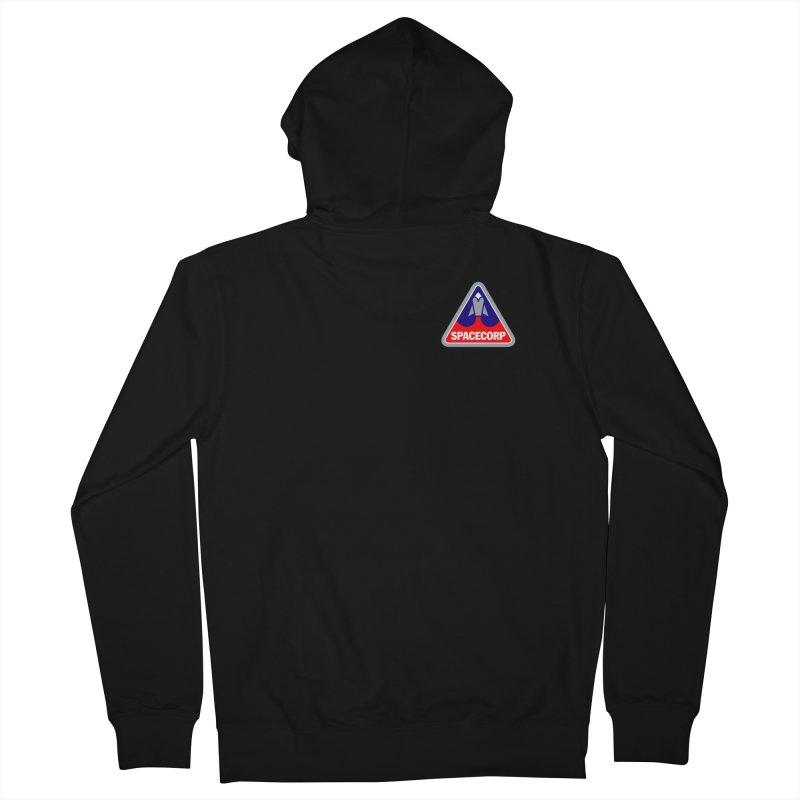 SpaceCorp Logo Men's Zip-Up Hoody by The Darkest of the Hillside Thickets Merchporium