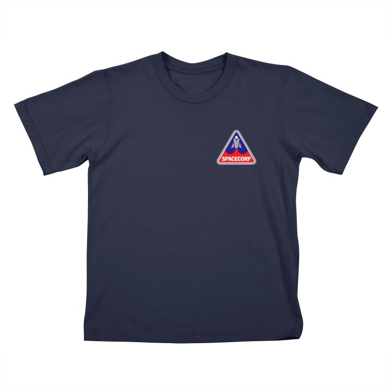 SpaceCorp Logo Kids T-Shirt by The Darkest of the Hillside Thickets Merchporium