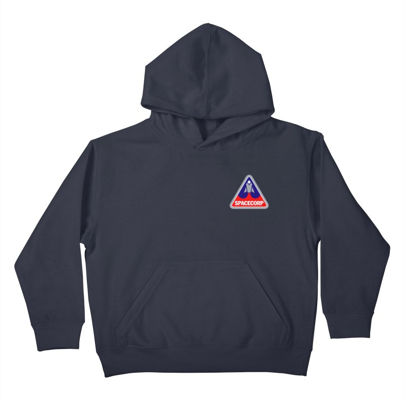 SpaceCorp Logo Kids Pullover Hoody by The Darkest of the Hillside Thickets Merchporium