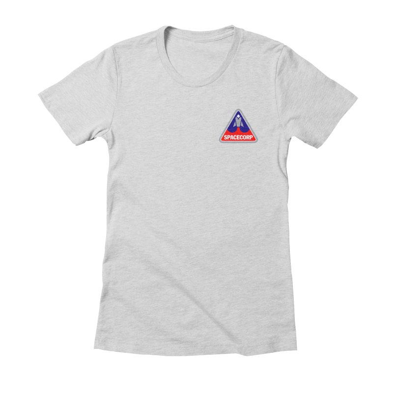 SpaceCorp Logo Women's Fitted T-Shirt by The Darkest of the Hillside Thickets Merchporium