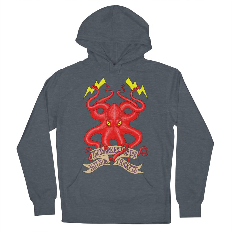 Rocktopus Women's French Terry Pullover Hoody by The Darkest of the Hillside Thickets Merchporium