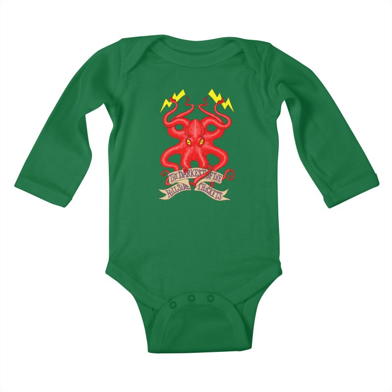 Rocktopus Kids Baby Longsleeve Bodysuit by The Darkest of the Hillside Thickets Merchporium