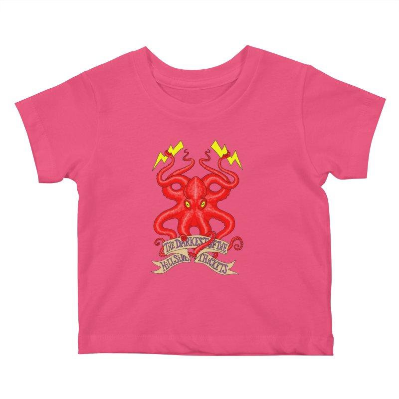 Rocktopus Kids Baby T-Shirt by The Darkest of the Hillside Thickets Merchporium