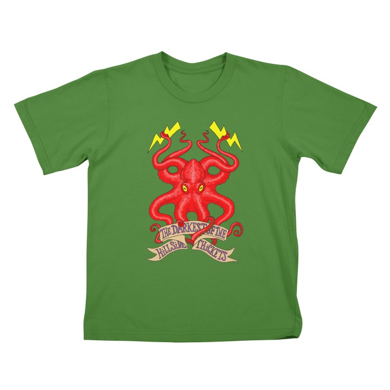 Rocktopus Kids T-Shirt by The Darkest of the Hillside Thickets Merchporium