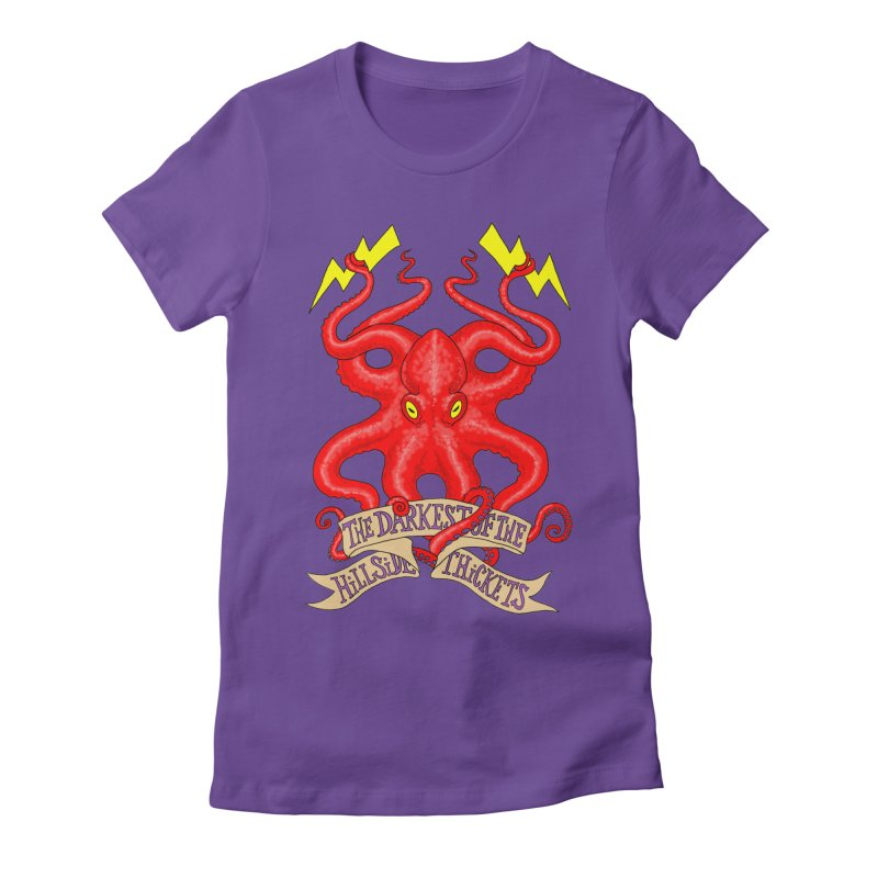 Rocktopus Women's Fitted T-Shirt by The Darkest of the Hillside Thickets Merchporium
