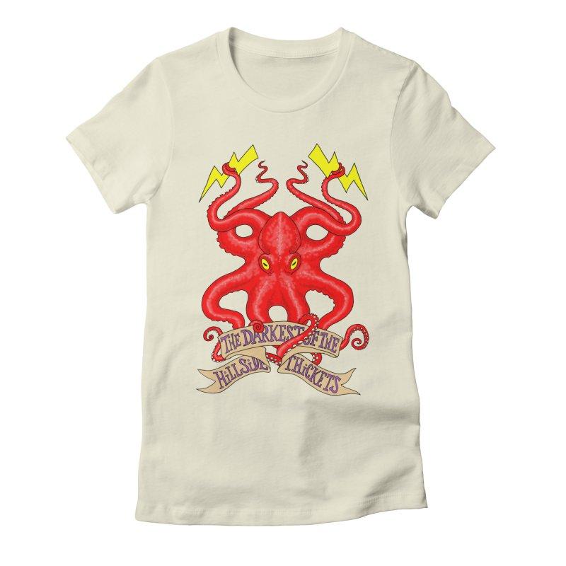 Rocktopus Women's Fitted T-Shirt by The Darkest of the Hillside Thickets Merchporium
