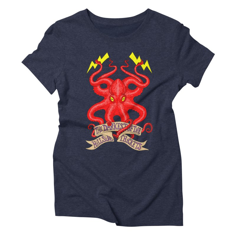 Rocktopus Women's Triblend T-Shirt by The Darkest of the Hillside Thickets Merchporium