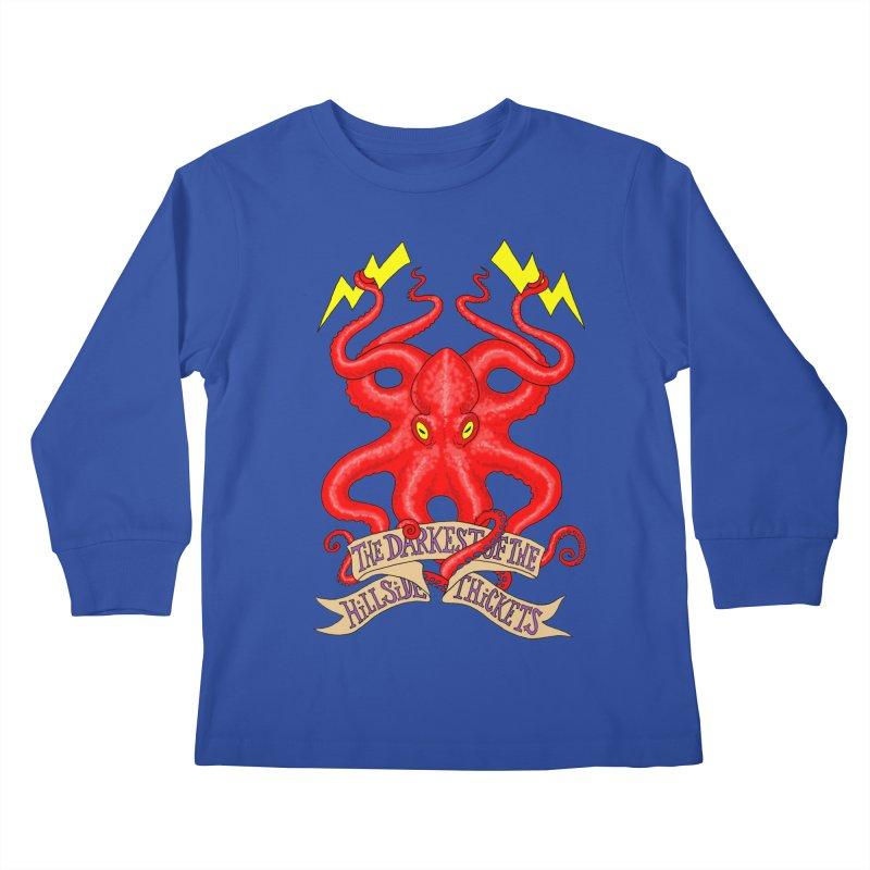Rocktopus Kids Longsleeve T-Shirt by The Darkest of the Hillside Thickets Merchporium