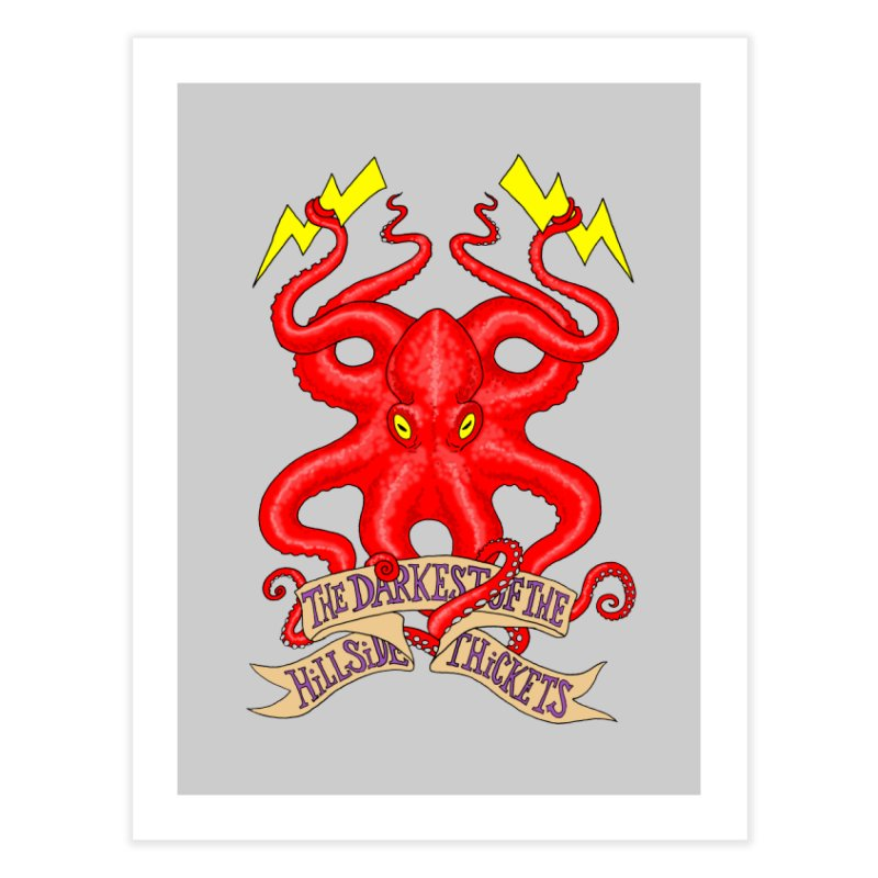 Rocktopus Home Fine Art Print by The Darkest of the Hillside Thickets Merchporium