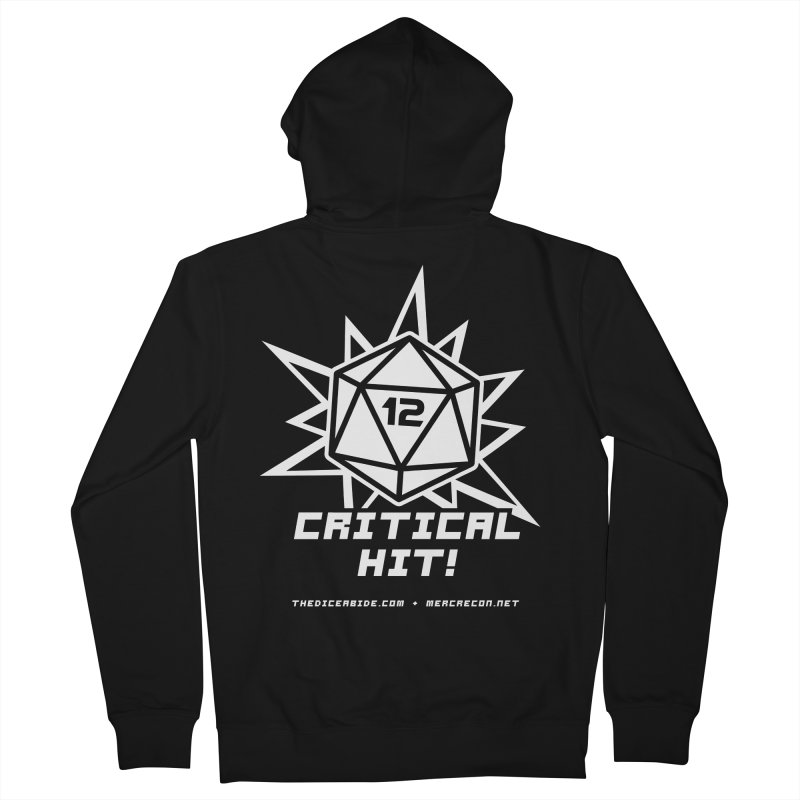 Critical Hit Men's French Terry Zip-Up Hoody by thediceabide's Artist Shop