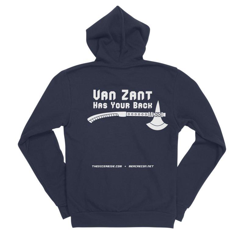 Van Zant Has Your Back Men's Sponge Fleece Zip-Up Hoody by thediceabide's Artist Shop