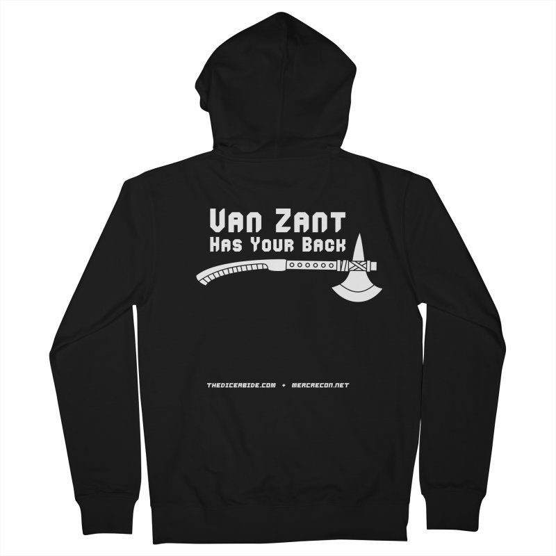 Van Zant Has Your Back Men's French Terry Zip-Up Hoody by thediceabide's Artist Shop
