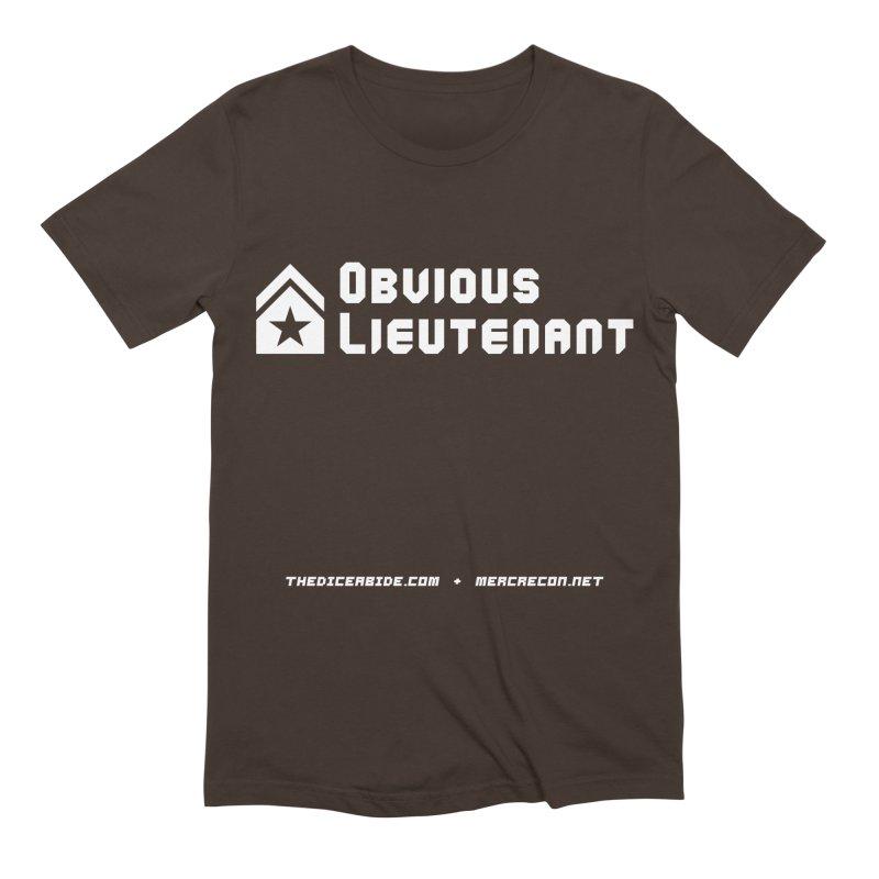 Obvious Lieutenant Men's Extra Soft T-Shirt by thediceabide's Artist Shop