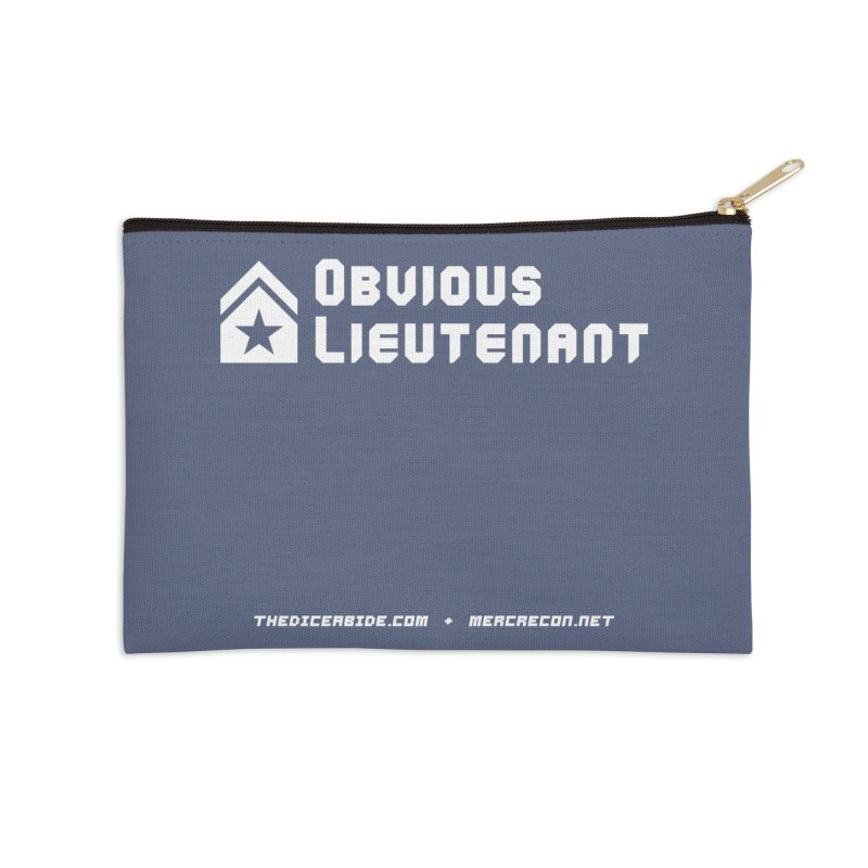 Obvious Lieutenant Accessories Zip Pouch by thediceabide's Artist Shop
