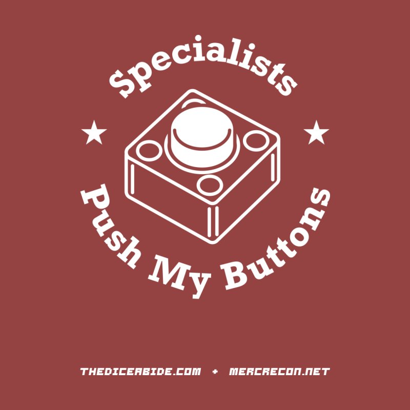 Button Pushing Men's T-Shirt by thediceabide's Artist Shop