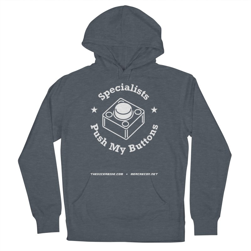 Button Pushing Men's French Terry Pullover Hoody by thediceabide's Artist Shop