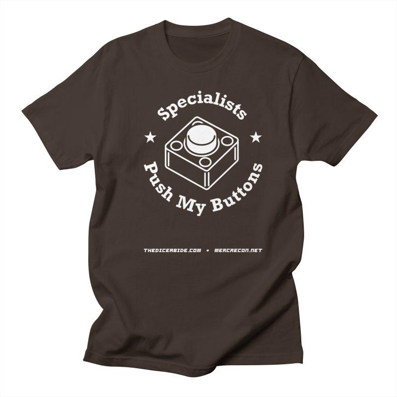 Button Pushing Men's Regular T-Shirt by thediceabide's Artist Shop